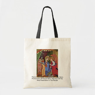 Passion Altar (Altar Wildungen), Left Wing Tote Bags