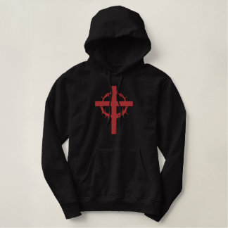 Passion Cross Embroidered Hoodie