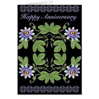 Passion Flower Anniversary Card