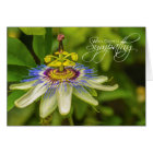 Passion Flower Deepest Sympathy card