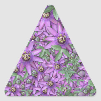 Passion Flower Explosion Triangle Stickers