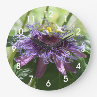 Passion Flower Large Clock