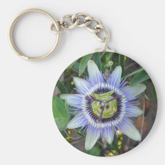 passion flower magnet key ring