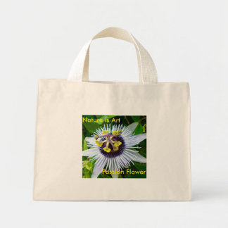 Passion Flower - Nature is Art Mini Tote Bag