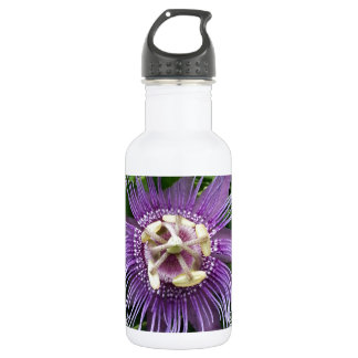 Passion Flower Purple and Green 532 Ml Water Bottle