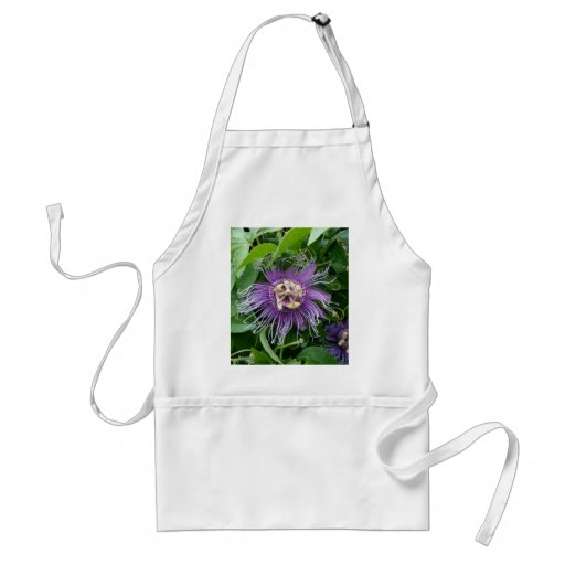 Passion Flower Purple and Green Apron