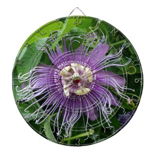 Passion Flower Purple and Green Dartboard
