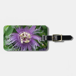 Passion Flower Purple and Green Luggage Tags