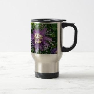 Passion Flower Purple and Green Mug