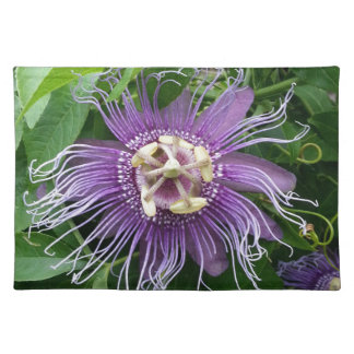 Passion Flower Purple and Green Placemats