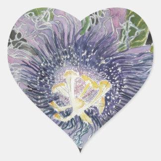 Passion Flower Purple Art Sticker