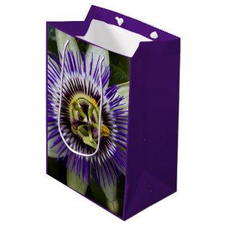 Passion Flower Purple Medium Gift Bag