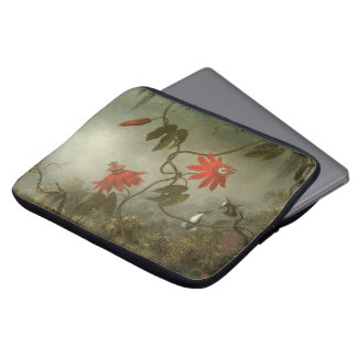 Passion Flowers and Hummingbirds by Martin J Heade Laptop Sleeve