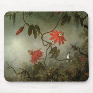 Passion Flowers and Hummingbirds Mouse Pads