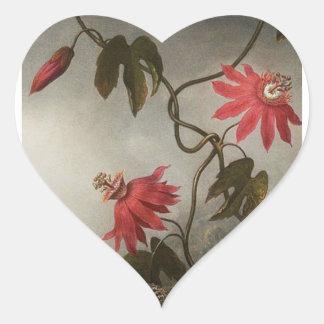 Passion Flowers Heart Sticker