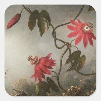 Passion Flowers Square Sticker