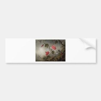 Passion Flowers with Hummingbirds by Martin Johnso Bumper Sticker