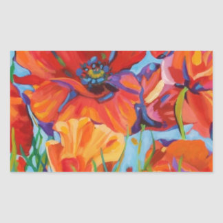 Passion for Poppies Rectangular Sticker