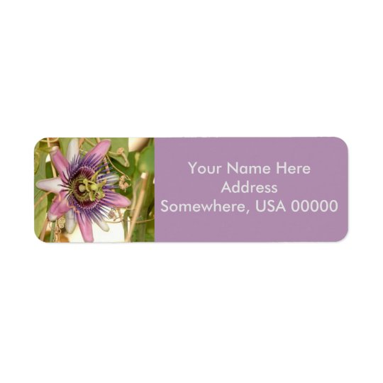 Passion Fruit Flower Return Address Labels