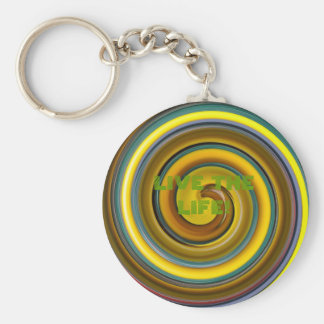 PASSION FRUIT, LIVE THE LIFE AGUARELA! BASIC ROUND BUTTON KEY RING