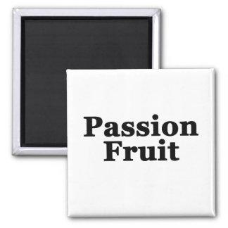Passion Fruit Square Magnet