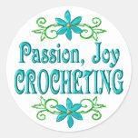 Passion Joy Crocheting Round Stickers