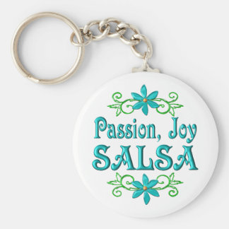 Passion Joy Salsa Basic Round Button Key Ring