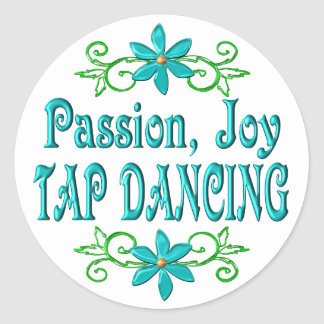 Passion Joy Tap Dancing Classic Round Sticker