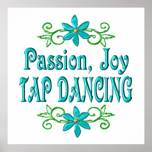 Passion Joy Tap Dancing Poster