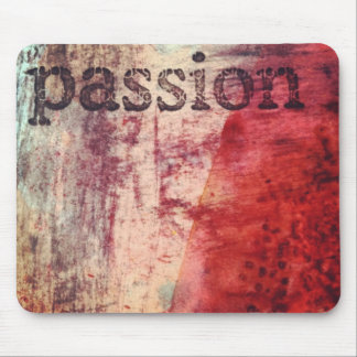 Passion - Mixed media art Mouse Pads