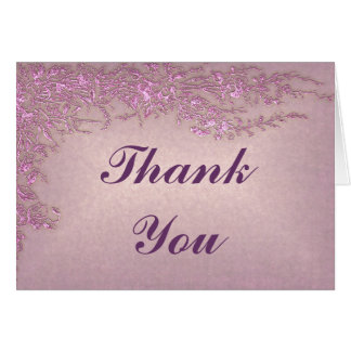 Passion Pink Thank You Card