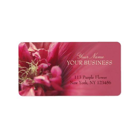Passion Red Flower Address Label