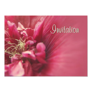 "Passion Red Flower birthday party invitation 5.5"" X 7.5"" Invitation Card"