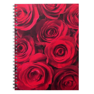 Passion Red Rose Bouquet Notebook