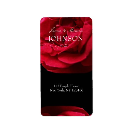 Passion Red Rose Label