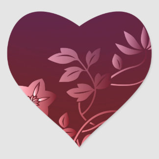 Passionate about Pink Flowers Collection Heart Sticker