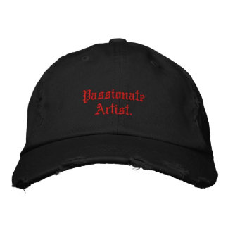 Passionate Artist. Embroidered Baseball Caps