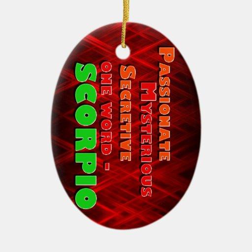 Passionate, Mysterious, Secretive - SCORPIO Christmas Ornaments