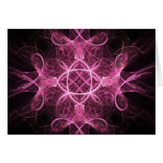 Passionate Pink Fractal Greeting Card