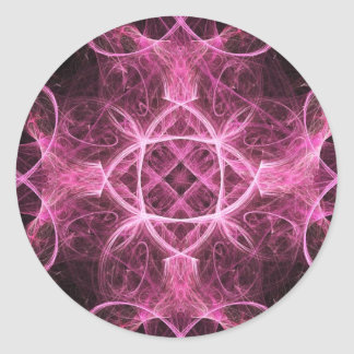 Passionate Pink Fractal Stickers
