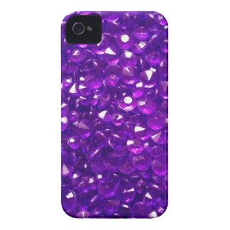 Passionate Purple Crystals iPhone 4 Case