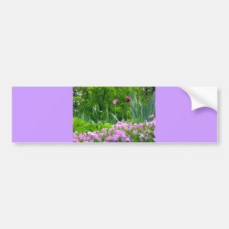 Passionate Purple Tulips Bumper Sticker