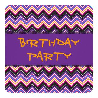 Passionately Purple & Pink Chevrons Personalized Invites