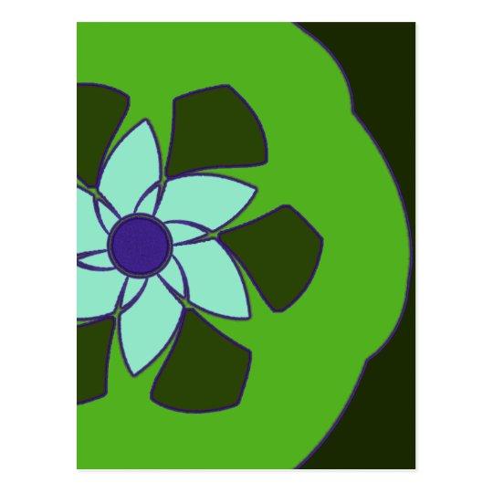 Passionfruit Flower Mandala Postcard
