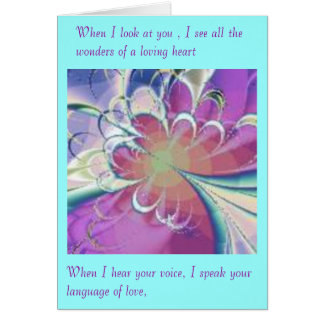 Passion's Voice Greeting Card