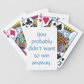 Passive-Aggressive Poker Cards