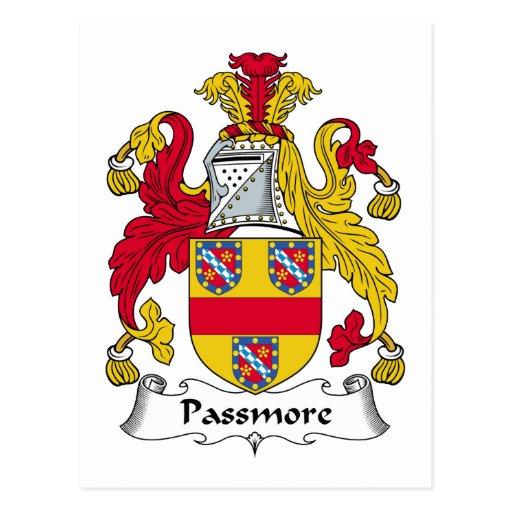 Passmore Family Crest Postcard