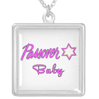 Passover Baby Girl Square Pendant Necklace