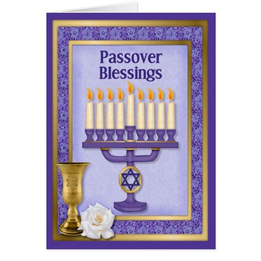 Passover Blessings Card