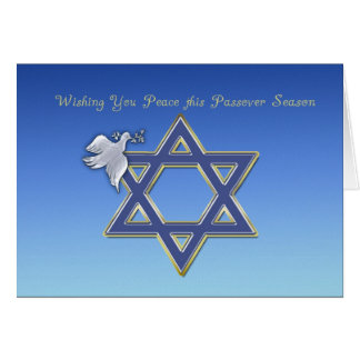 Passover Dove Star Card